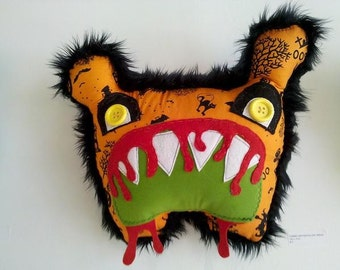 Plush Zombie Critter Pillow - Dread