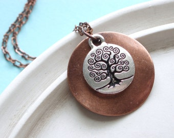 Silver Willow Tree Necklace