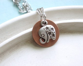 Silver Elephant Necklace - Babar