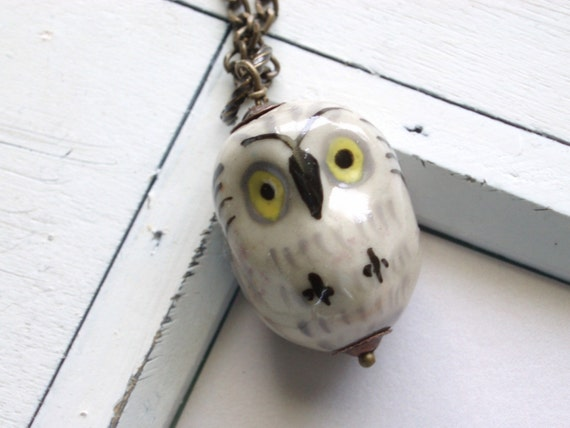 Owl Jewelry - Fall Trends - What a Hoot Necklace