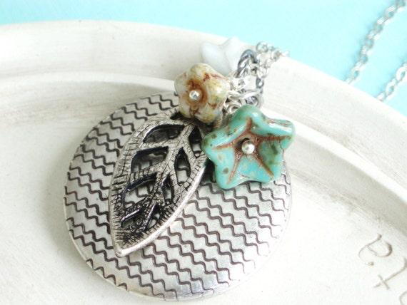 Silver Locket Necklace - Woodland Walk