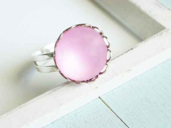 Silver Ring - Pink Frost Ring