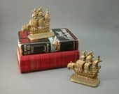 Spanish Galleon Pirate Ship Bookends