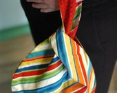 Jewel toned striped Grab and Go Wrist Bag