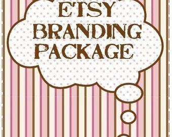 Banner Shop Business Set - Etsy Branding Package --- Banner, Avatar and Business Card Design -- xox