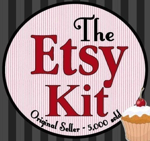 SALE-Original Etsy Complete Success Kit-Brand New- 4th Edition- 5,300 sold for Handmade Success (free notecards-christmas ornament santa holly candle)