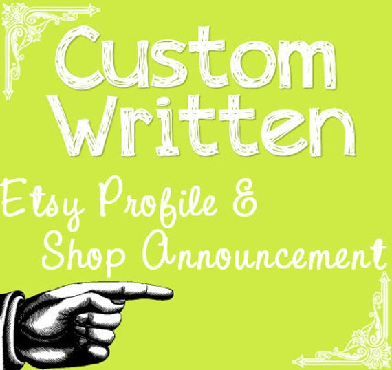 Etsy Profile and Shop Announcement- SEO Dense - Relevancy and Keywords for Your Handmade Business  xxx