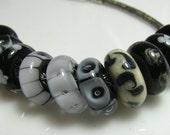 CLEARANCE set of 10 Oggi bighole beads, Pandora, Trollbead, Biagi, Chamilia style