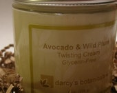 Avocado and Plum Twisting Cream - GLYCERIN FREE - medium hold styling and twisting cream for kinky, coily, naturally curly hair