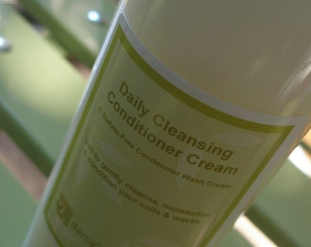Daily Cleansing Conditioner Cream 16 oz. - no poo low lather cleansing conditioner, sulfate free, daily curl moisturizing co-wash