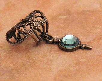 Absinthe - Filigree Ear Cuff - Brilliant Erinite Earcuff by Lorelei Designs