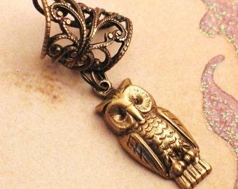 Little Hooter - Filigree Ear Cuff - Little Owl Earcuff by Lorelei Designs