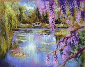 Monet French Water Garden Archival 5 in. x 7 in. Print from Original Painting