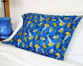 Snuggly Flannel Pillow Case - Construction Zone