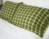 Bedding Boutique Flannel Pillowcase-Green Plaid