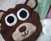 Brown Bear Bath Face Cloth