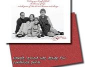 faith, hope, and peace holiday photo card