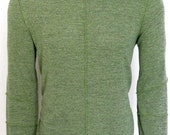 Men's supersoft green turtleneck shirt