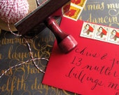 Return Address Stamp in Calligraphy