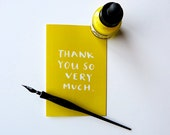 THANK YOU CARD - Lemon Lime Greeting card printed on 100% recycled paper - 5.5x4.25 (folded card) with matching white envelope