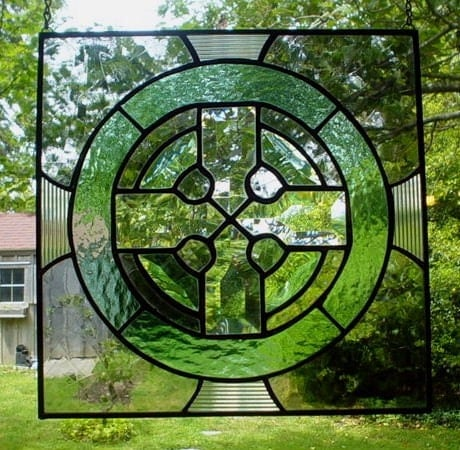 Stained Glass Celtic Panel Celtic Cross.