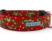 Mistletoe Dog Collar 1.5 inches wide