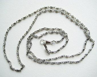 120cm/ 47.25 inch shiny silver cross body bag purse chain