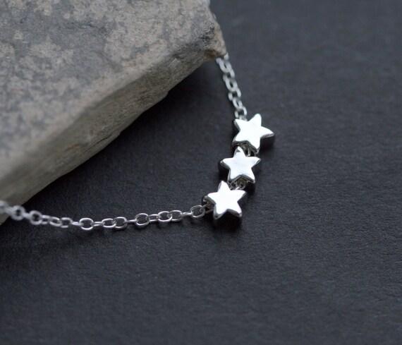 Triple Tiny Star Necklace