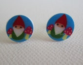 Little Gnomes Shrinky Dink Stud Earrings
