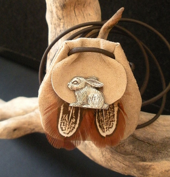 Rabbit Power Animal Amulet - Animal Totem Medicine Bag