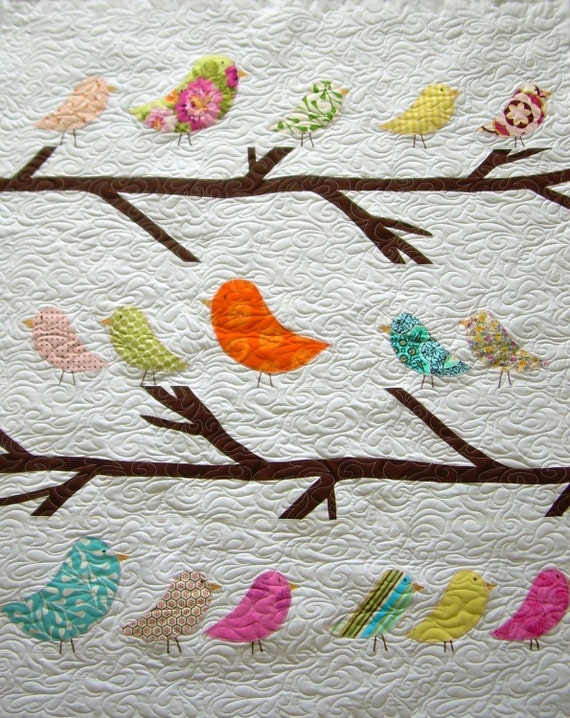 Birds of a Feather--Twin Size Quilt