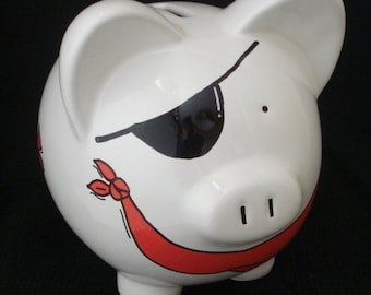 Rocket and space personalized piggy bank by dizigns on etsy - Rocket piggy bank ...