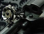 Dalinda Bullet Jewelry Bullet Ring Black Bullet Rose Ring