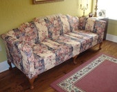 Now on sale...Vintage 1980s Hickory Chair Furniture Company Sofa & Matching Loveseat, Refinished, Reupholstered, Restored