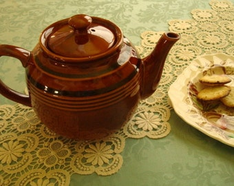 On Sale...Slightly Imperfect...Time for Tea...Chocolate Glazed Ceramic Teapot..Possibly Vintage 1960s, Chocolate Teapot