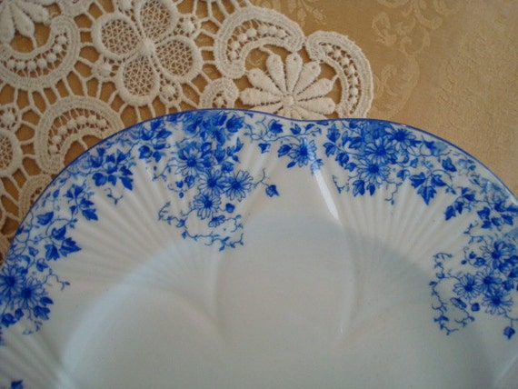 Now on Sale!  Slightly Imperfect...SHELLEY DAINTY BLUE Plate Number Dinner Plate...Rare 9 1/4 inches