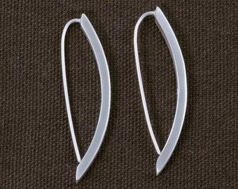 Matt Square Edge Pod Drop Earrings ERD127