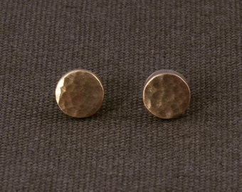 Gold textured Stud Earrings ERS141