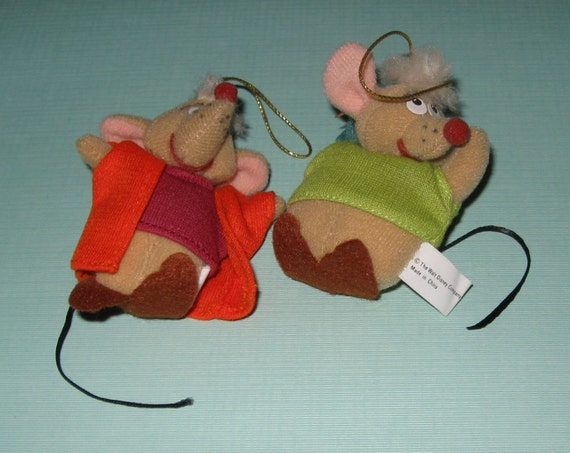cinderella mice gus and jaq 1987 mcdonalds plush christmas