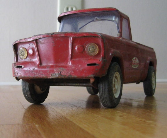 Tonka Mound Minn Red Metal Pick Up Truck