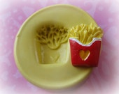 French Fry Mold Silicone Clay Resin Mould
