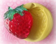 Strawberry Mold Deco Sweets Kawaii Food Silicone Flexible Clay Resin Mould