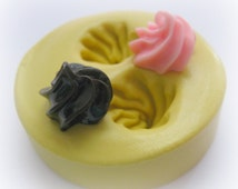 Cupcake Topping Mold Deco Sweets Kawaii Food Silicone Flexible Clay Resin Mould