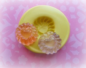 Round Candy Mold Deco Sweets Kawaii Food Silicone Flexible Clay Resin Mould