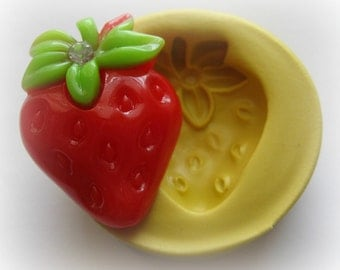 Strawberry Silicone Mold Deco Sweets Kawaii Food Silicone Flexible Clay Resin Mould