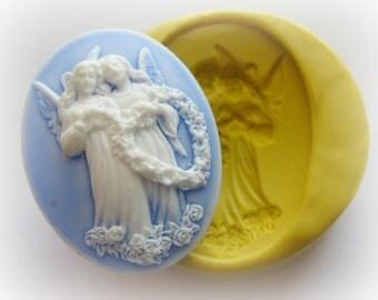 Angel Cherub Mold Christmas Silicone Flexible Clay Resin Mould