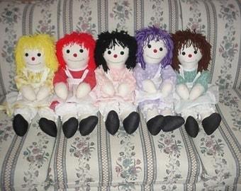 The DeeDeeDoll Collection - custom made rag doll