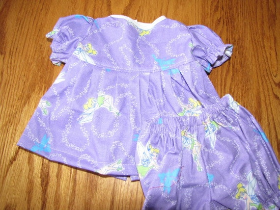 Lovely Lavender Tinkerbell Dress & Panties fits Bitty Baby