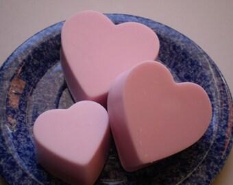 Cherry Almond Pink Heart Soap Trio