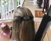Monogrammed Hair Clip